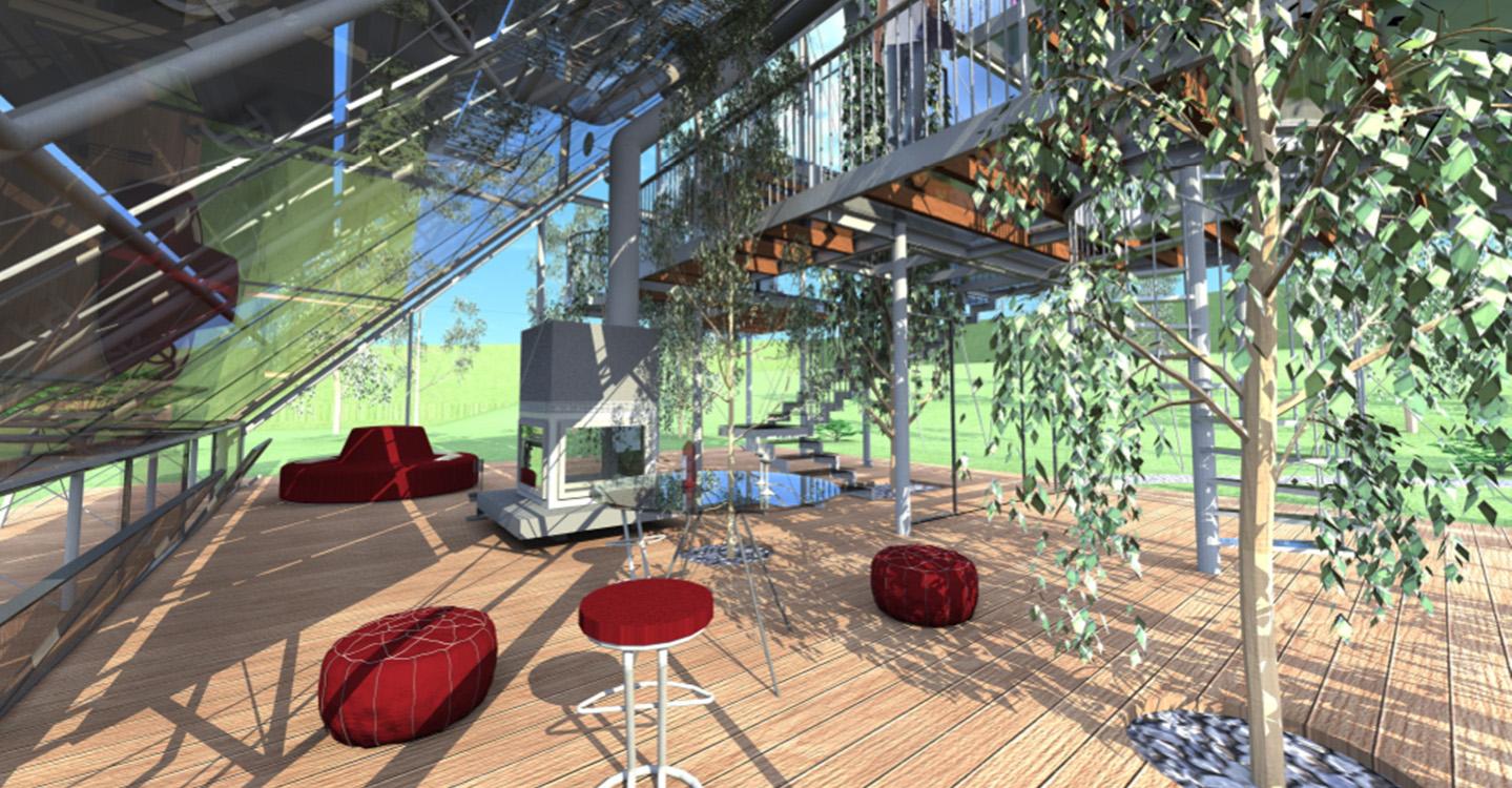 casa di vetro, una casa ad emissioni zero